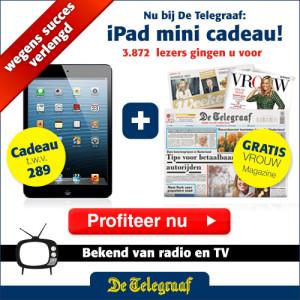 iPad gratis bij de Telegraaf